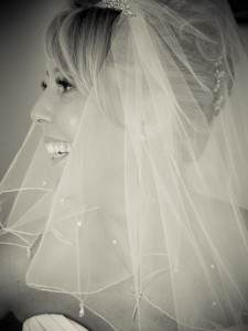 A wedding portrait of Deborah Pond on the occasion of her wedding to Tony.